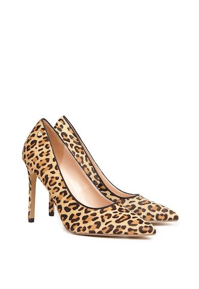 Motivi Pantofi de piele cu par scurt si animal print Femei