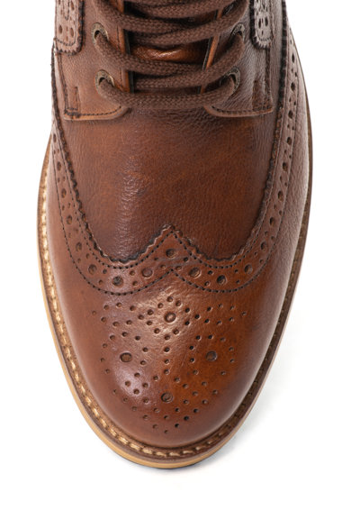SUPERDRY Shooter hosszú szárú bőr brogue cipő férfi