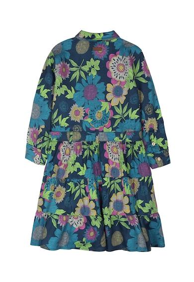 boboli Десенирана рокля с разкроен подгъв Момичета