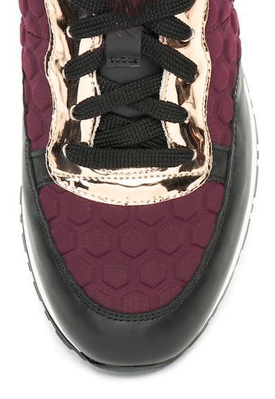 Pollini Релефни спортни обувки с език от еко пух Жени