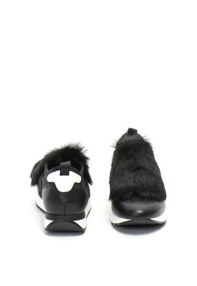 Pollini Pantofi sport slip-on cu detaliu din blana sintetica Femei