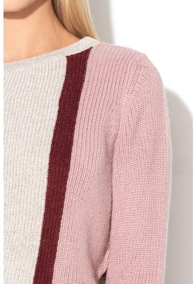Marella Pulover cu model colorblock si insertii de lurex Massimo Femei