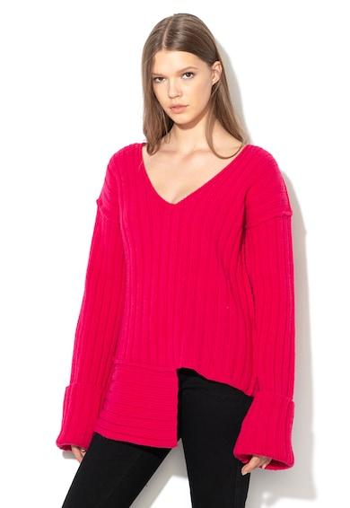 Diesel Асиметричен пуловер с вълна Жени
