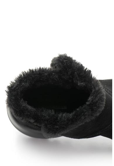 Skechers Ghete de piele intoarsa, cu garnitura de blana sintetica Bundle Up Femei