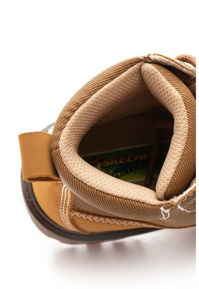 Skechers Bocanci de piele ecologica Outer Venture Baieti