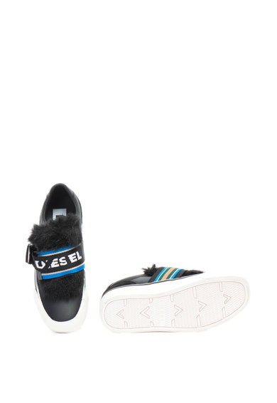 Diesel Flip bebújós bőr cipő logós pánttal női