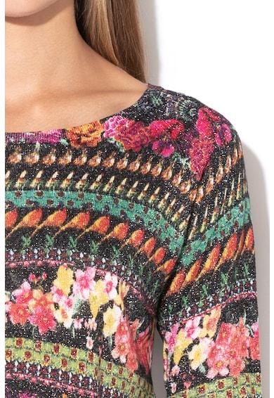 DESIGUAL Cameron finomkötött pulóver fényes szálbetétekkel női