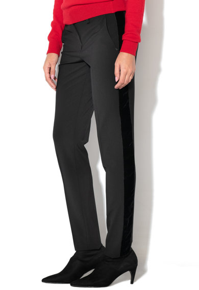 Sportmax Code Andreis szűzgyapjú tartalmú slim fit nadrág női