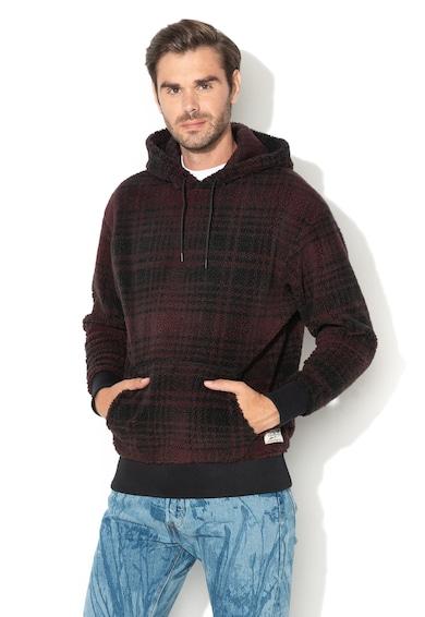 Levi's Fresh Leaves kockás kapucnis pulóver plüssbéléssel férfi