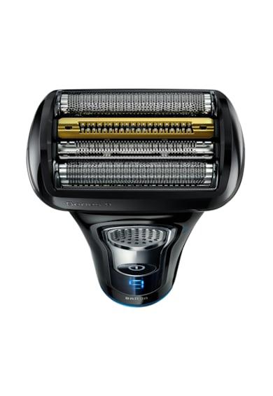 Braun Aparat de ras electric  9242s, SyncroSonic, 40000 rpm, 5 elemente de taiere, Negru/Albastru Barbati