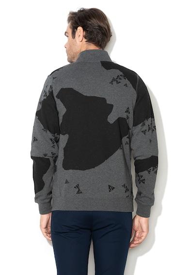 Guess Logómintás cipzáros pulóver polérbéléssel férfi