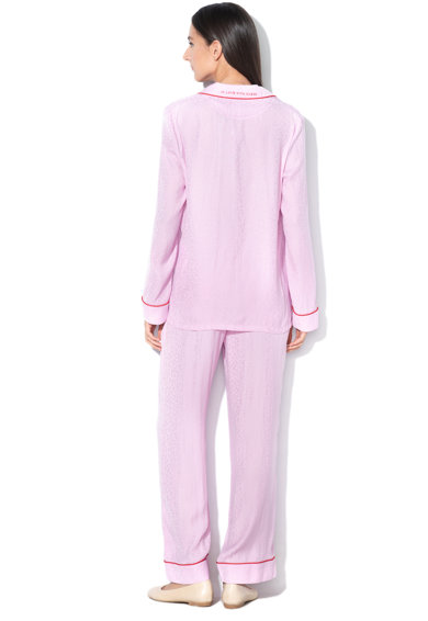 Guess Pijama de satin cu logo brodat Femei