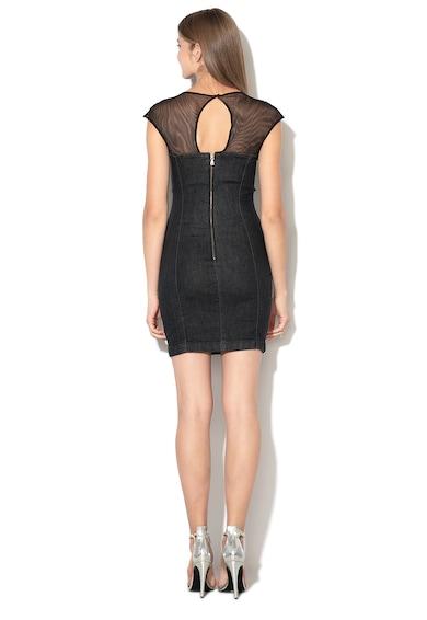 GUESS JEANS Права рокля с мрежести зони Жени