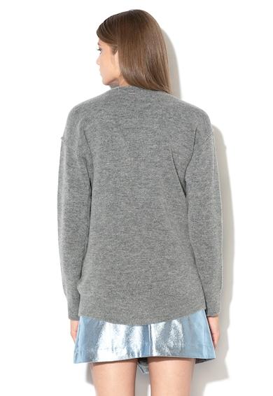GUESS JEANS Пуловер с вълна и шпиц деколте Жени