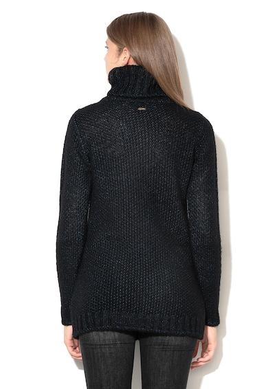 GUESS JEANS Пуловер с поло и бляскави детайли Жени