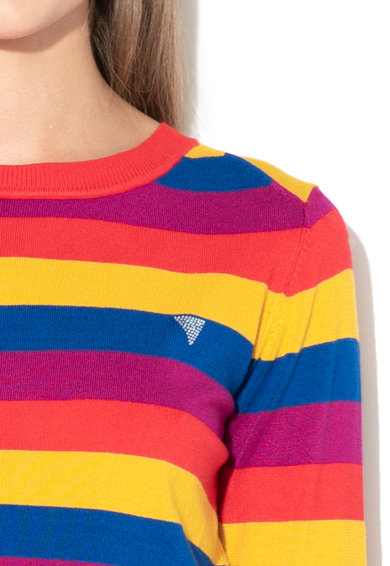 Pulover din tricot fin cu strasuri GUESS JEANS (W84R95-Z2760-SE84 ... 19f5f648e0