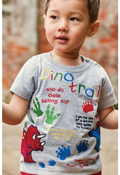 JoJo Maman Bebe Tricou cu aplicatii cu animale Baieti