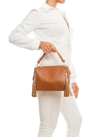 Pia Sassi Кожена чанта с декоративни пискюли Жени