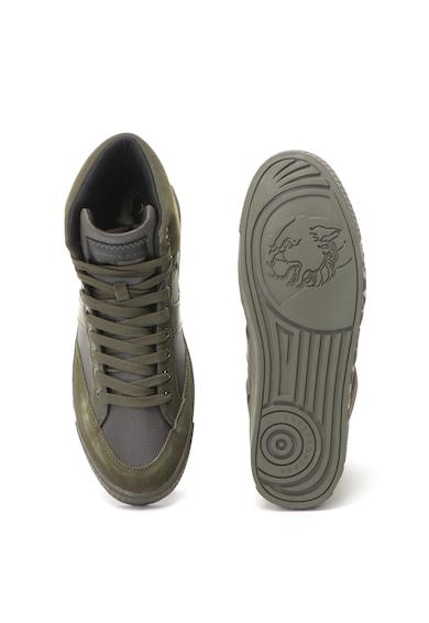 Versace Jeans Pantofi sport mid-high cu insertii de piele intoarsa Barbati