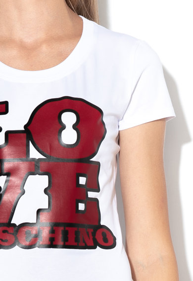 Love Moschino Szövegmintás póló női