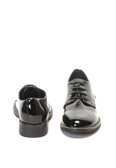 Francesco Milano Pantofi derby de piele ecologica cu aspect lacuit Femei