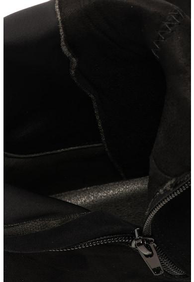 Francesco Milano Cizme lungi pana la genunchi de piele intoarsa ecologica Femei