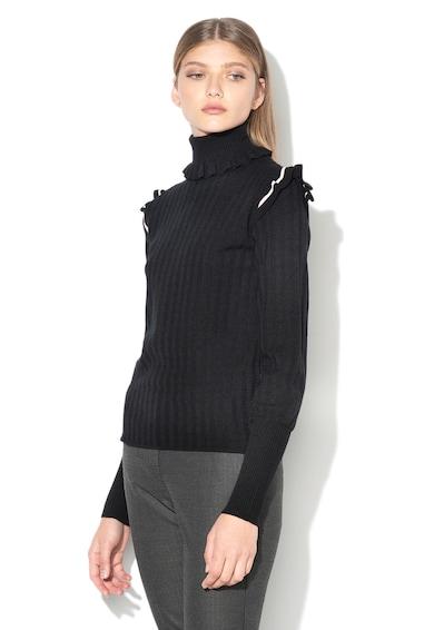 Max&Co Dracena bordázott pulóver fodros részletekkel női