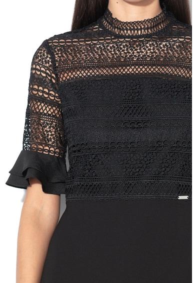 GUESS JEANS Rochie cu strat exterior de dantela tricotata Femei