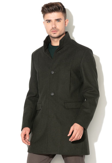 Mosto gyapjútartalmú kabát - Selected Homme (16063100-DARK-GREEN) 7ee519d25d