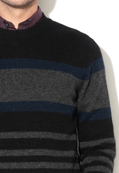 Selected Homme Joe gyapjútartalmú csíkos pulóver férfi