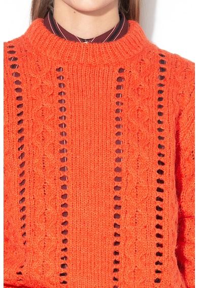 Maison Scotch Pulover din amestec de lana cu perforatii Femei