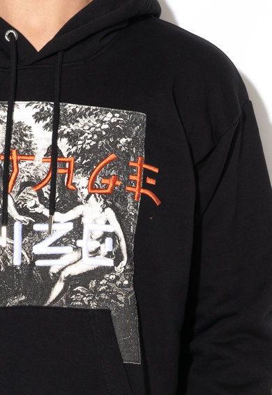 Diesel Grafikai mintás kapucnis pulóver férfi