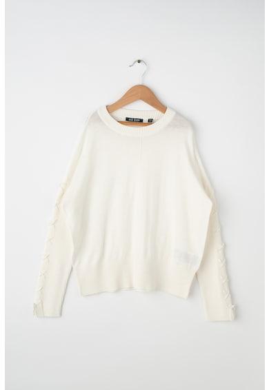 Blue Seven Пуловер с фина плетка и връзки на ръкавите Момичета