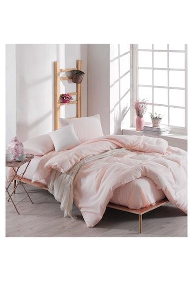 EnLora Home Комплект спално бельо  65% памук, 35% полиестер, 200x220 см, Розова сьомга Мъже