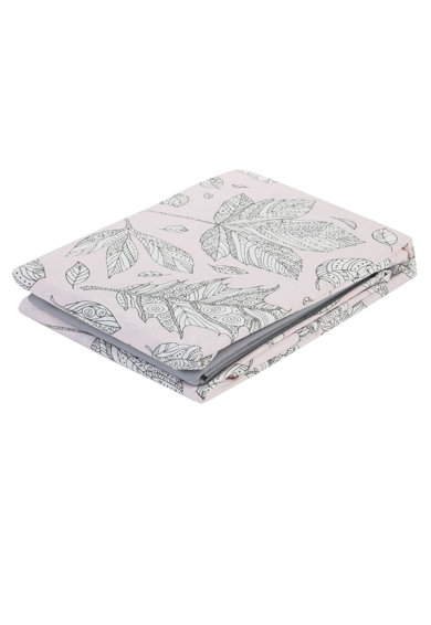 Nazenin Home Спален комплект  100% памук ранфорс, 200x220 см, Сив/Розов Мъже