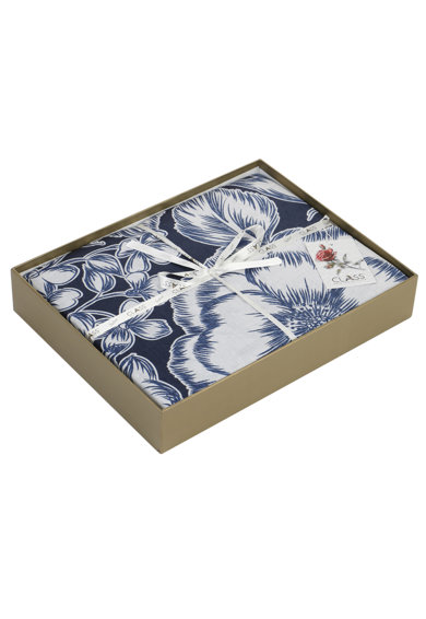 Majoli Bahar Home Collection Lenjerie de pat  100% bumbac satinat, 200x220 cm, Albastru/Alb Femei