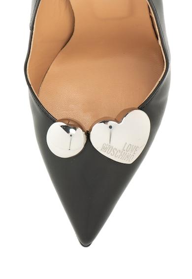 Love Moschino Обувки от еко кожа с метални апликации Жени
