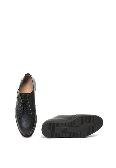 Love Moschino Кожени обувки със скосена платформа Жени