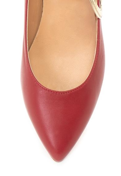 Love Moschino Кожени пантофки с апликации Жени