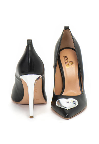 Love Moschino Кожени обувки със сърцевидно лого Жени