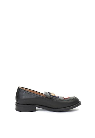 Love Moschino Pantofi loafer de piele cu aplicatii Femei