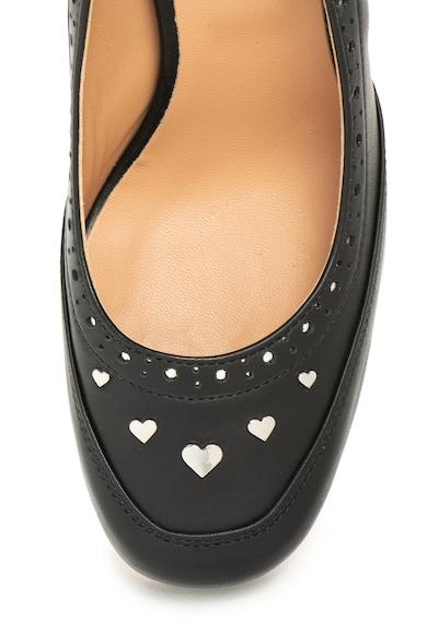 Love Moschino Кожени обувки със сърцевидни капси Жени