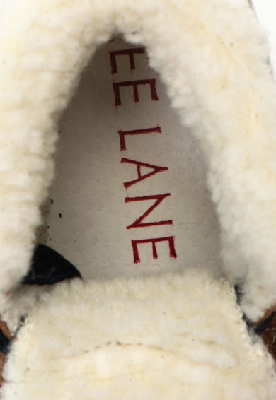Zee Lane Ghete de piele si piele intoarsa cu captuseala din material teddy Fete