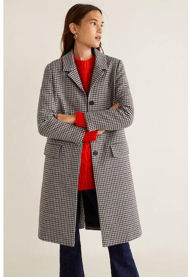 599bb72ef7 Lock kockás straight fit kabát - Mango (31027642-08)