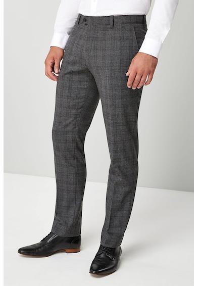NEXT Signature gyapjútartalmú slim fit alkalmi nadrág férfi
