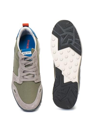Diesel Pantofi sport de piele intoarsa si panza RV Femei