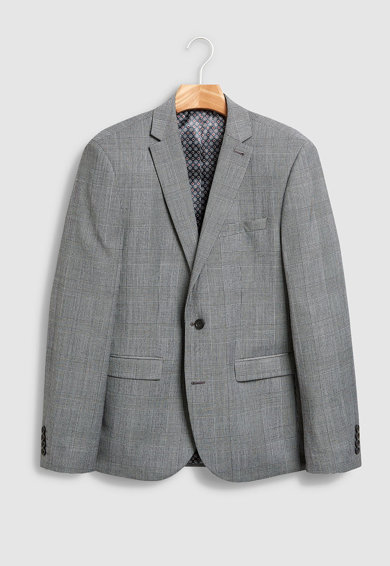 NEXT Sacou slim fit din amestec de lana, cu model in carouri Barbati