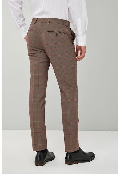 NEXT Pantaloni conici skinny cu model in carouri Barbati