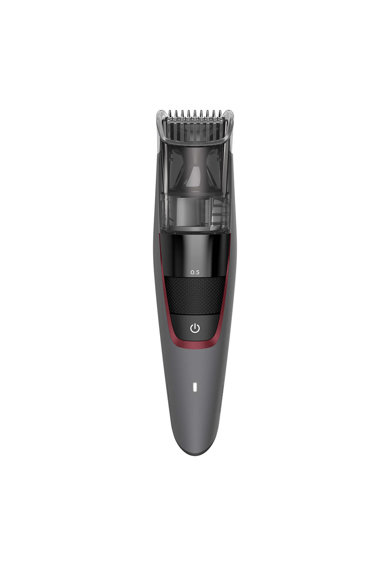 Philips Aparat de tuns barba cu aspirare  Seria 7000 , lame metalice, 20 trepte, functionare 100 minute, LED, Gri Barbati