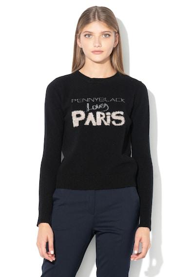 Pennyblack Pulover cu imprimeu logo, din lana Oltre Femei